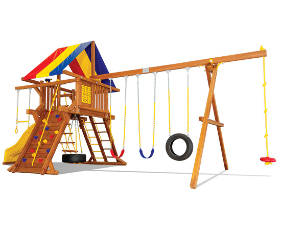 25F Carnival Castle Pkg II Extras Swing Set