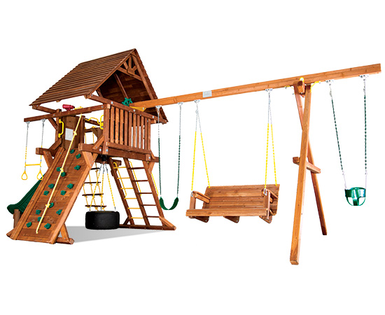 25G Carnival Castle Pkg II with Wood Roof and Lots More Playset