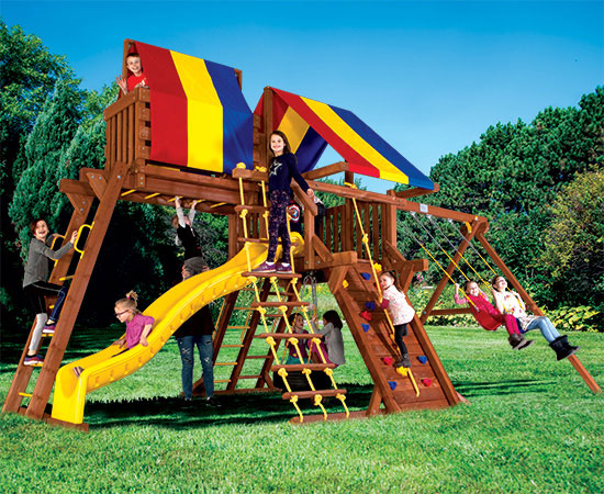 26I Carnival Castle Pkg IV Popular Swing Set