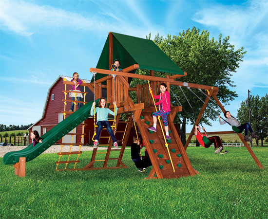 28P Turbo Carnival Castle Pkg II Popular Swing Set