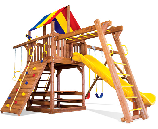 33F Carnival Clubhouse Pkg II Loaded Swing Set