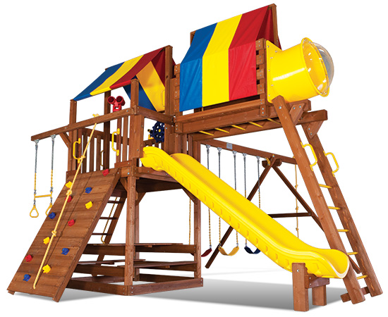 33G Carnival Clubhouse Pkg IV Loaded Swing Set