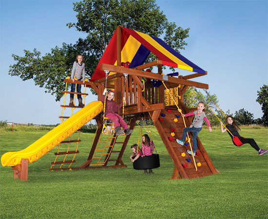 39F Sunshine Castle Pkg I Awesome Features Swing Set