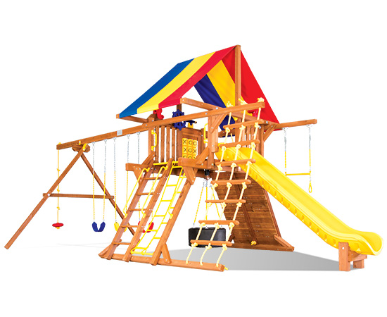 39G Sunshine Castle Pkg II with Awesome Features Swing Swing Set