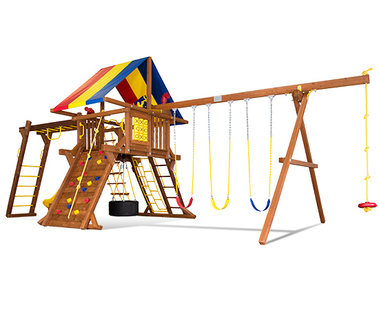 39H Sunshine Castle Pkg III with Awesome Features Swing Set