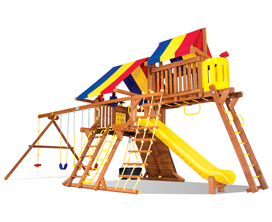 39I Sunshine Castle Pkg IV with Awesome Features Swing Set