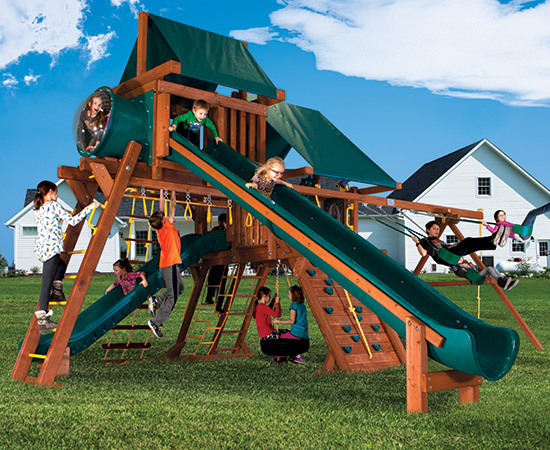 41O Sunshine Castle Pkg V with 15ft Scoop Slide