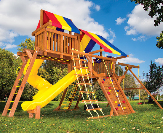 41P Sunshine Castle Pkg V Loaded Swing Set