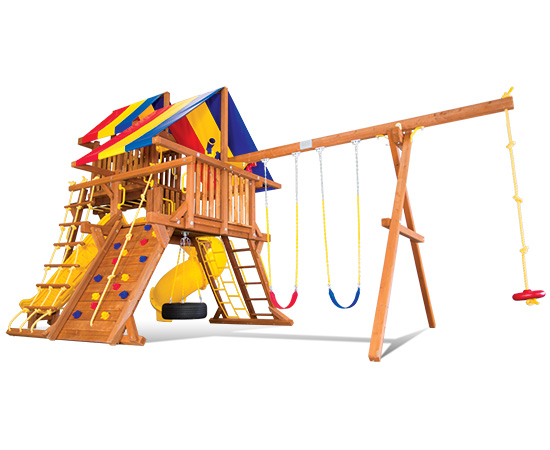 41P Sunshine Castle Pkg V Loaded Swing Set