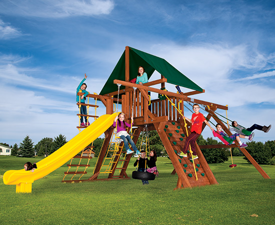 42Q Turbo Sunshine Castle Pkg II Loaded Forest Green Swing Set