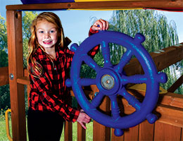 45 Jumbo Ships Wheel Rainbow Playset Accessories