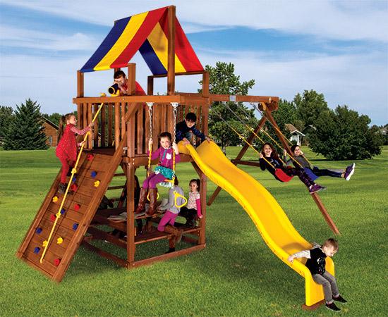 46C Sunshine Clubhouse Pkg II Popular Swing Set