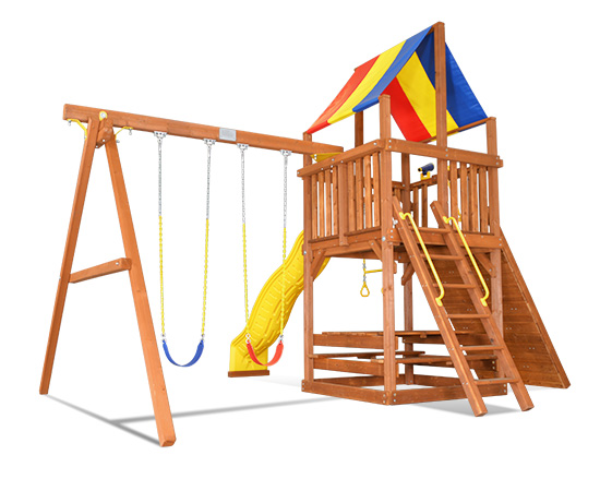 46C Sunshine Clubhouse Pkg II Popular Swing Set