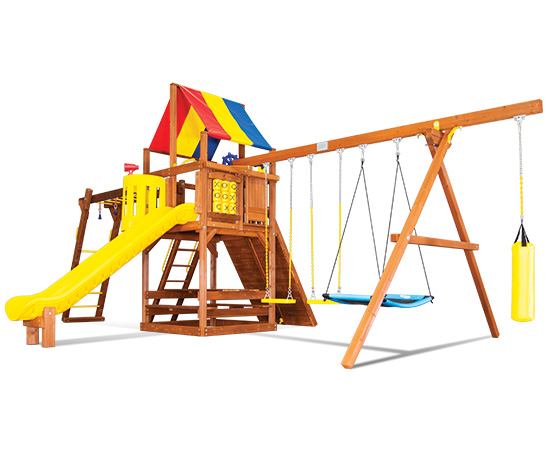 48I Sunshine Clubhouse Pkg III Ninja Swing Set