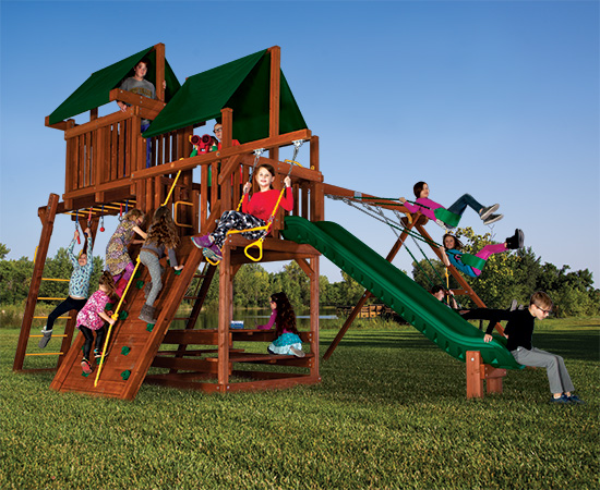 48J Sunshine Clubhouse Pkg IV Modified Loaded and Ninja Swing Set