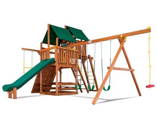 48J Sunshine Clubhouse Pkg IV Modified Loaded and Ninja Swing Set