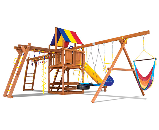 49K Sunshine Clubhouse Double Ninja Pkg III Swing Set