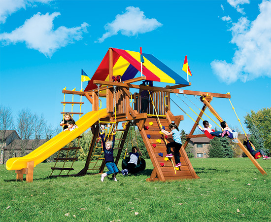51B Rainbow Castle Pkg II Feature Model Swing Set