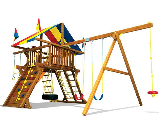 51B Rainbow Castle Pkg II Feature Model Swing Set