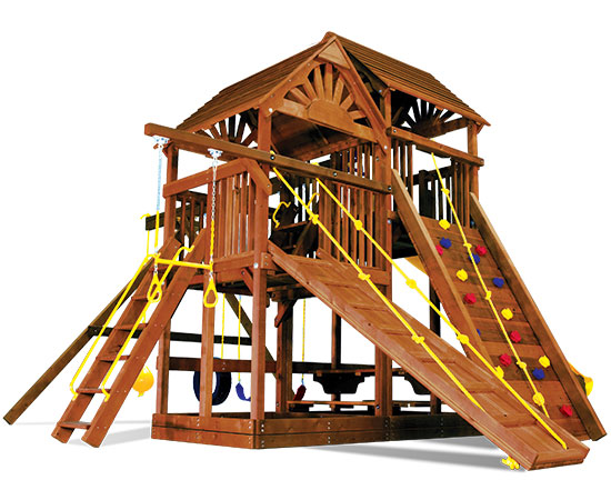 53B King Kong Clubhouse Pkg II with Wooden Roof Nicely Equipped