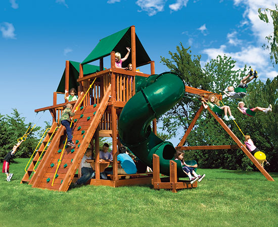53C King Kong Clubhouse Pkg II Loaded with 360 Spiral Slide