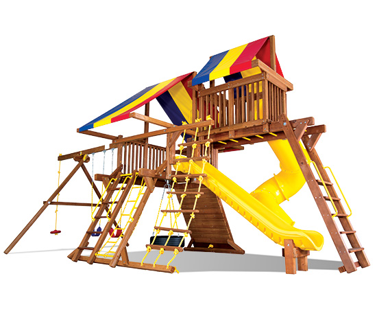 55M Rainbow Castle Pkg V with 270 Spiral Slide Play Set
