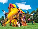55N Rainbow Castle Pkg V Loaded with 360 Spiral Slide Playset