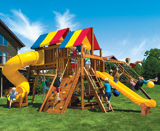 56A Rainbow Clubhouse Pkg V Magnificent Swing Set