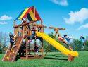57B Rainbow Clubhouse Pkg II Feature Model Swing Set