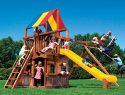 59F Rainbow Clubhouse Pkg II with Playhouse Swing Set