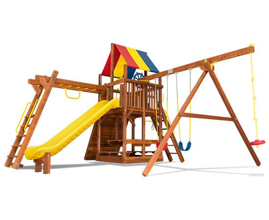 59K Rainbow Clubhouse Pkg III Loaded Swing Set