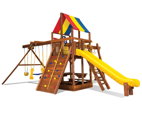 60L Rainbow Clubhouse Pkg III Fully Equipped to the Max Swing Set