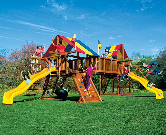 62R Rainbow Double Whammy Swing Set
