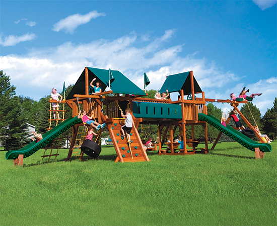62S Rainbow Double Whammy Nicely Equipped Swing Set