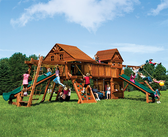 63T Rainbow Double Whammy Maxed out with Wood Roofs and Tons More Playset