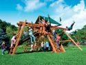 67E Monster Castle Pkg III Forest Green and Loaded Swing Set