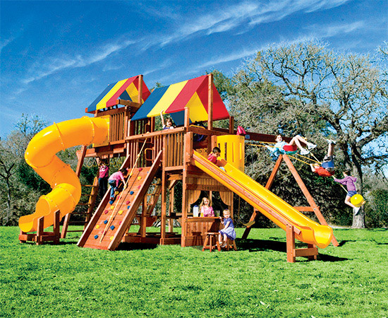 70A Monster Clubhouse Pkg V Whopper Swing Set
