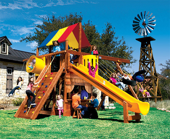 72C Monster Clubhouse Pkg II Fancy Swing Set