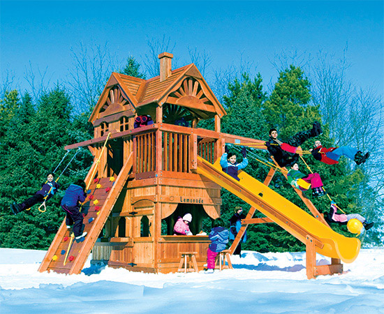 74I Monster Clubhouse Pkg II Classic Huckleberry Hideout Playset