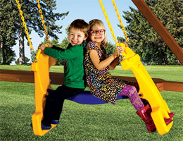 75 Deluxe Glider Rainbow Swing Set Accessories