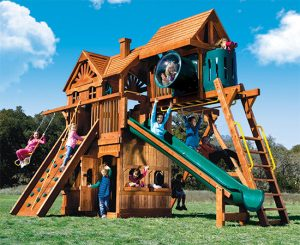 75K Monster Clubhouse Pkg IV HUCKLEBERRY MAGIC Swing Set