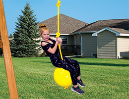 77 Knotted Rope with Buoy Ball Rainbow Playset Accessories