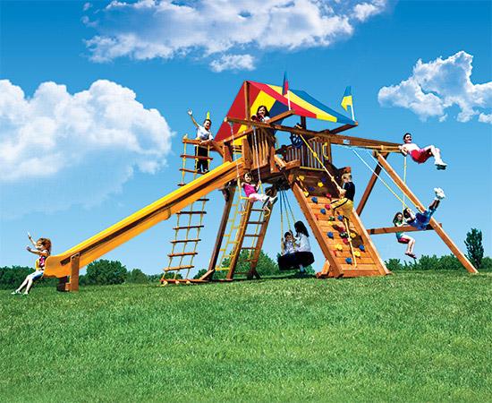 77B King Kong Castle Pkg II Feature Model Swing Set
