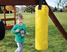 78 Punching Bag Rainbow Swing Set Accessories