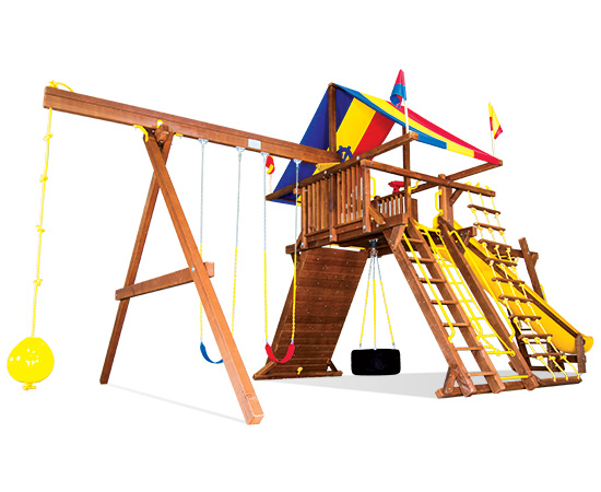 78D King Kong Castle Pkg III Loaded Swing Set