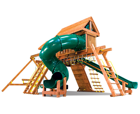 80G King Kong Castle Pkg V Supersized Grand Slam with Wood Roofs Playset