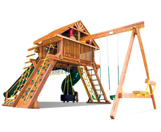 80G King Kong Castle Pkg V Supersized Grand Slam with Wood Roofs Playset