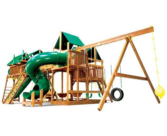 81J King Kong Double Whammy Green Machine Swing Set