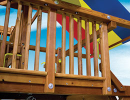 83 Spindle Rail Rainbow Swing Set Accessories