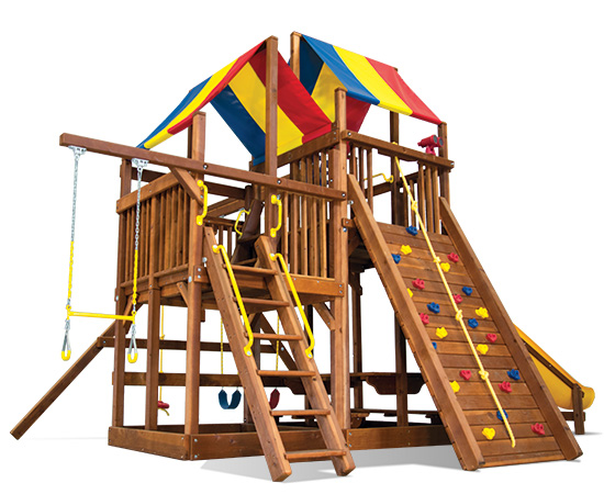 85B King Kong Clubhouse Pkg II Feature Model Swing Set